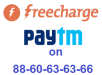Pay at Freecharge or Paytm on 88-60-63-63-66